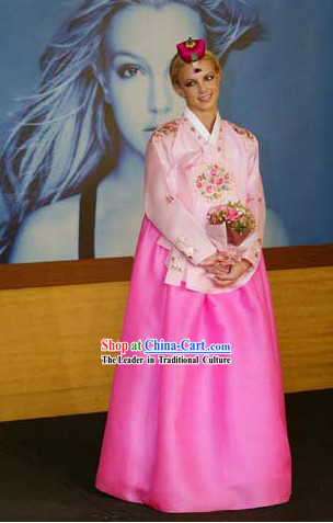Traditional Korean Embroidered Hanbok Dress