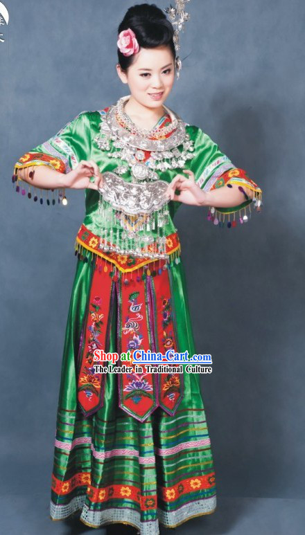 China Miao Tribe Festival Costume Complete Set