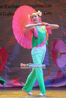 Chinese Umbrella Dance Costume for Children