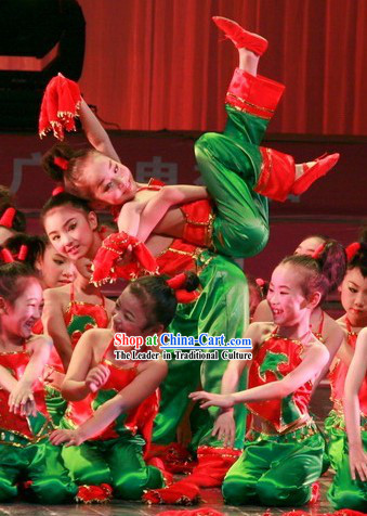 Chinese Handkerchief Dance Costume for Children