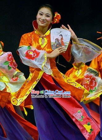 Chinese Ancient Fan Dance Costumes