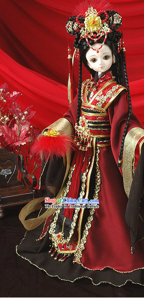 Supreme Chinese Classical Princess Long Costumes Complete Set
