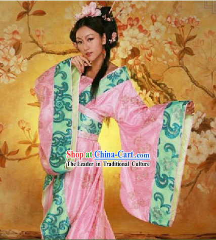 Chinese Ancient Princess Wedding Dress and Hair Accessories Complete Set