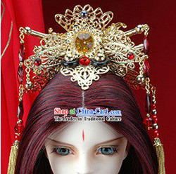 Ancient Chinese Emperor Crown Hair Decoration Set