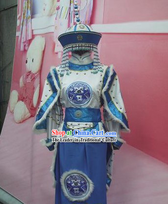 Chinese Made to Order Traditional Mongolian Empress Costumes for Women