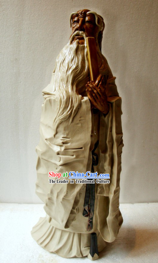 Chinese Shiwan Statue Collectible - Confucius