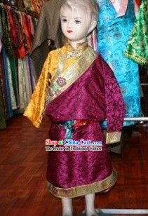 Traditional Tibetan Dress Complete Set for Boys