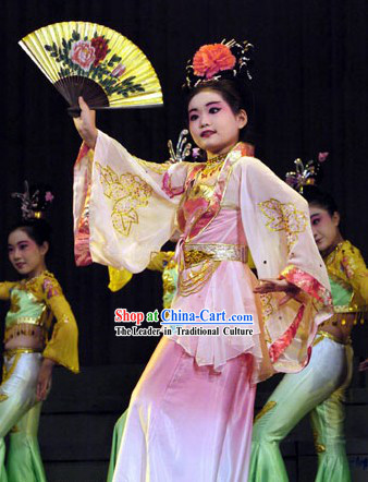 Chinese Fan Dance Costume for Children