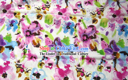 Traditional Chinese Silk Flower Fabric