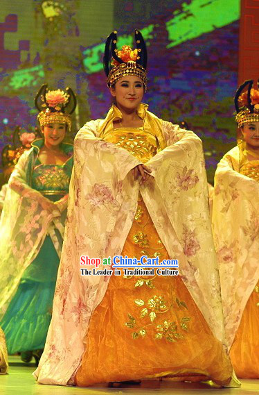 Chinese Ancient Palace Dance Costume Complete Set