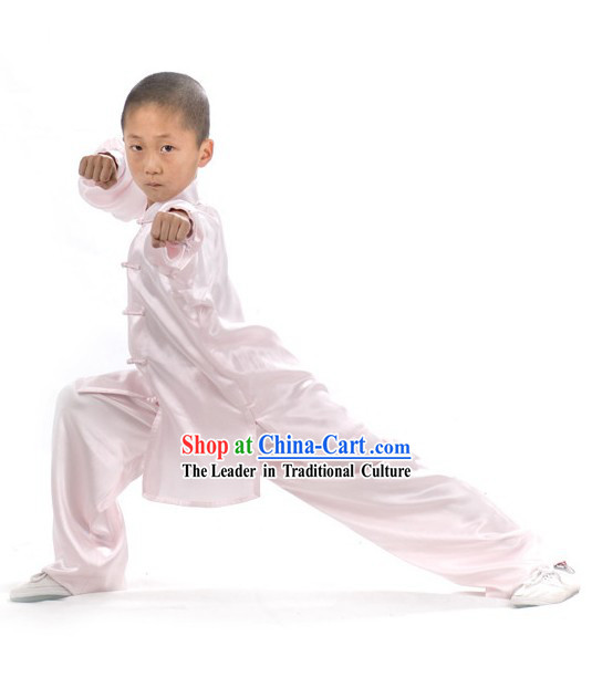 Chinese Classical White Tai Chi Uniform for Children