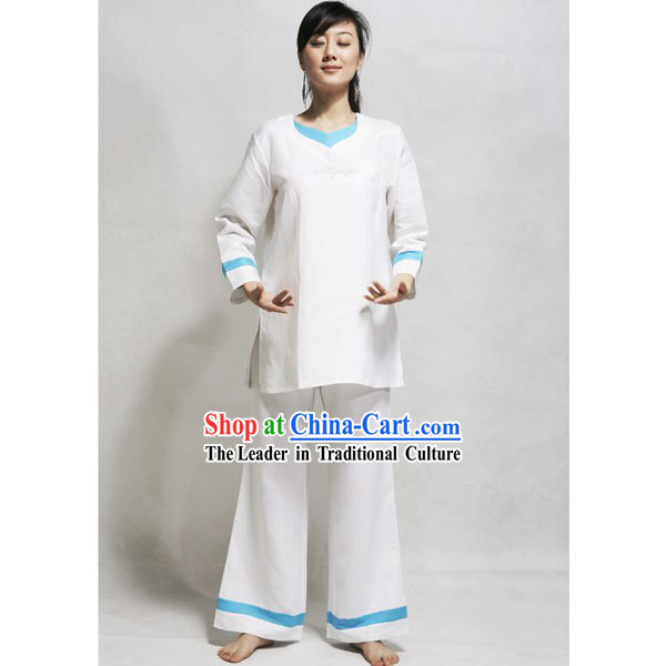 Chinese Flax Tai Chi Uniform