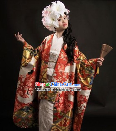 Japanese Princess Wedding Kimono Complete Set