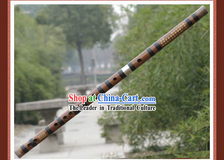 Chinese Brass Bamboo Flute