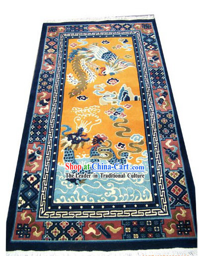 Chinese Classical Dragon and Phoenix Wool Carpet