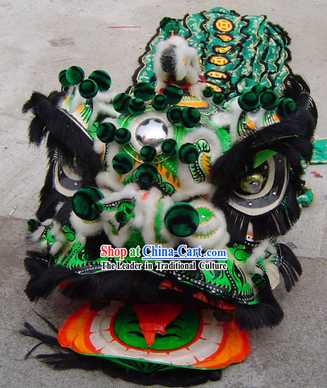 Traditional Zhang Fei Lion Dance Costumes Complete Set