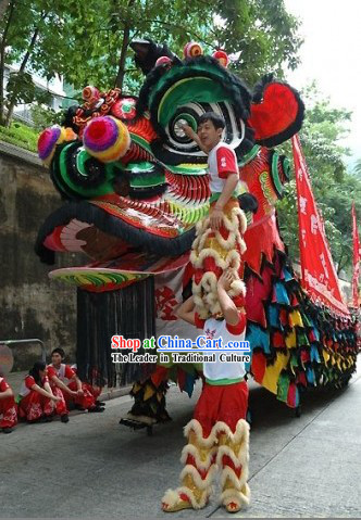 Super Large Lion Dance Costumes for Display and Parade