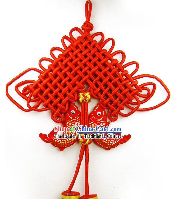 Large Traditional Red Chinese Knot