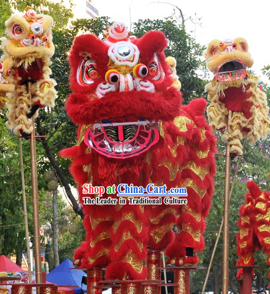 Supreme Happy Wedding Ceremony Lion Dance Costumes Complete Set