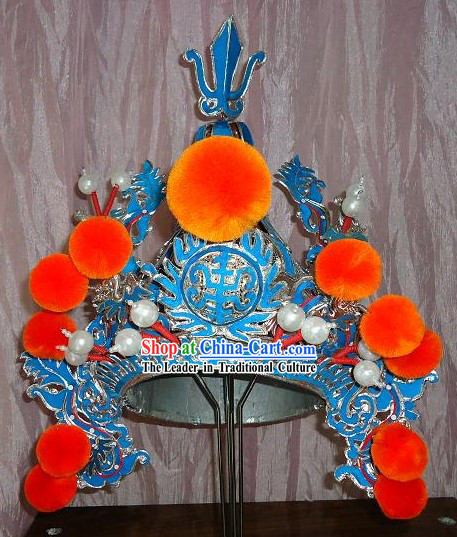 Peking Opera Wusheng General Helmet for Men