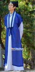 Xu Xian White Snake Legend Male Costume and Hat Complete Set