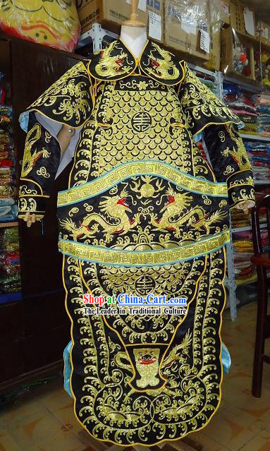 Chinese Stage Performance General Armor Costume Complete Set