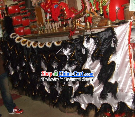 Black Sheep Fur White Undercover Lion Dance Body Tail Pants Claws Set