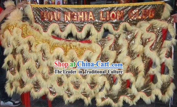 Long Sheep Fur Lion Dancing Body Set