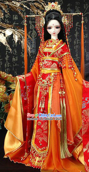 Ancient Chinese Princess Clothing and Hair Accessories Complete Set for Adults or Children