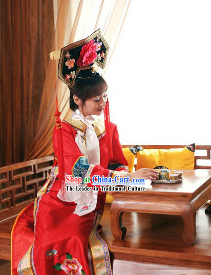 Qing Dynasty Princess Costume and Hat