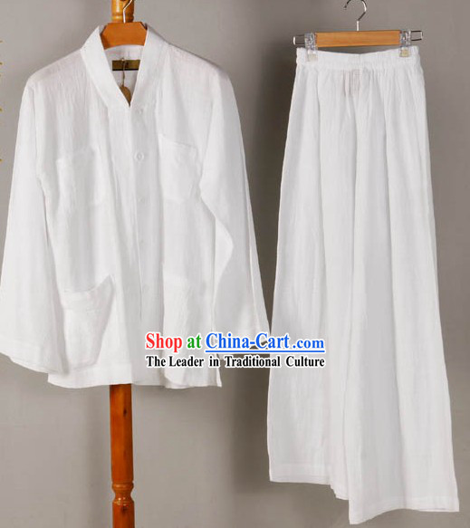 Pure Wise Man Plain White Outfit