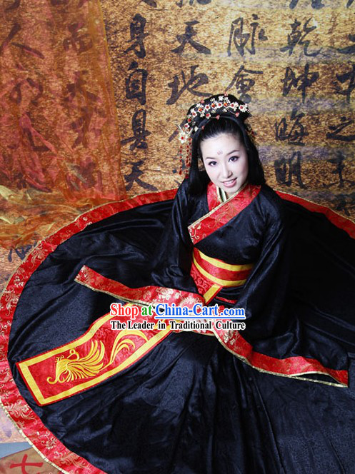 Traditional Chinese Phoenix Empress Wedding Dress