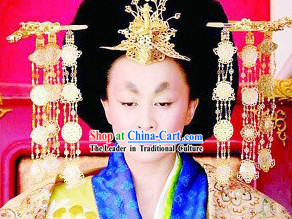 Ancient Chinese Tang Dynasty Women Emperor Hair Accessories