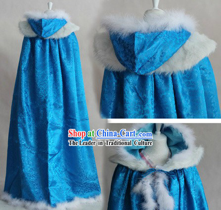 Ancient Chinese Blue Winter Cloak