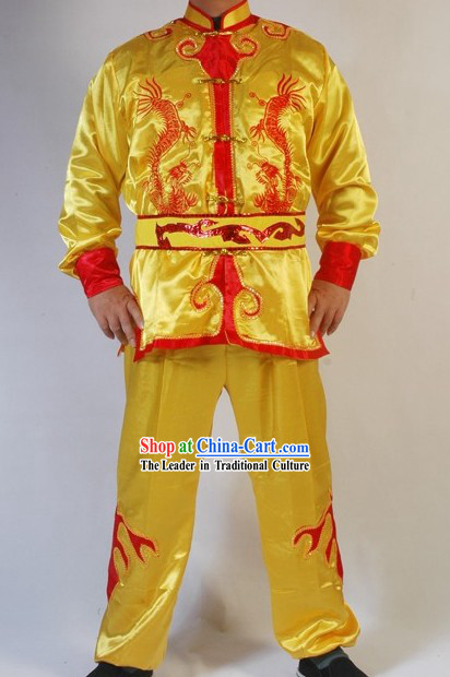 Traditional Chinese Dragon Dancer Uniform Set