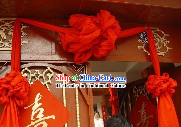 Large Chinese Silk Red Flower