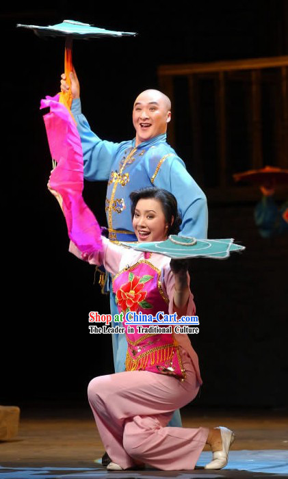 Er Ren Zhuan Folk Dance Costumes 2 Sets