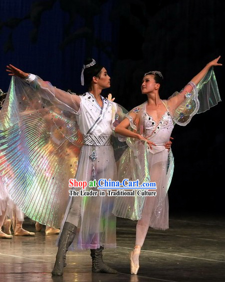 Chinese Butterfly Lovers Dance Costume Sets for Men and Women