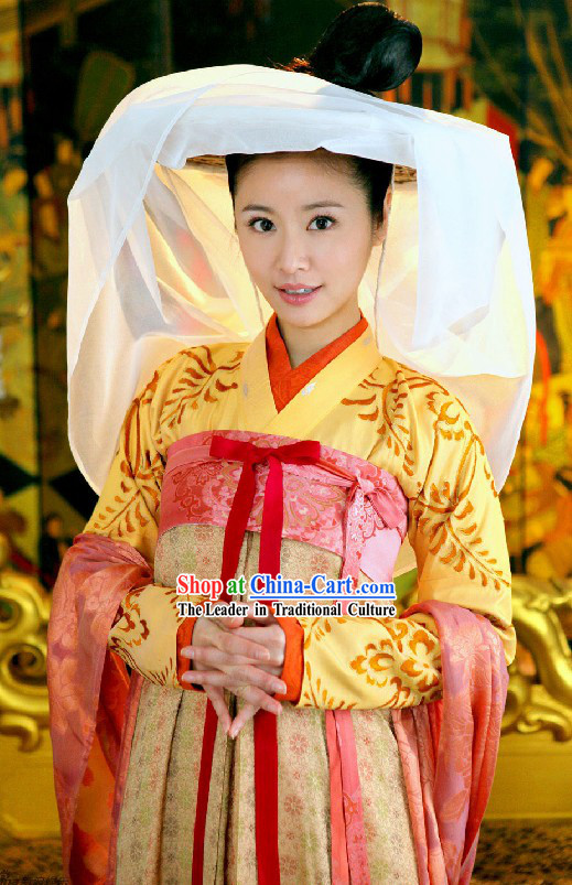 Ancient Chinese Tang Princess Clothing Complete Set