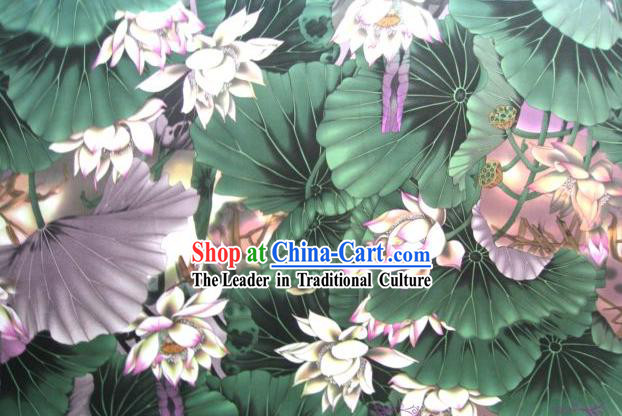 Traditional Chinese Lotus Silk Fabric