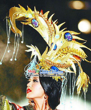 Chinese Beauty Contest Hair Decoration and Costumes Complete Set