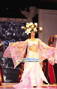 Asian Fashion Beauty Pageant Costumes and Hair Decoration Complete Set