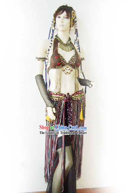 Top Custom Made Belly Dance Costume Complete Set for Women