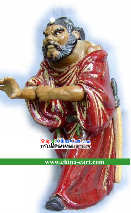 Zhong Kui Catching Ghost Chinese Shiwan Collectible