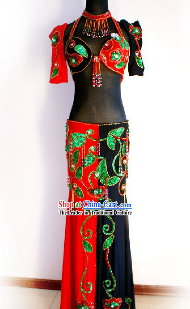 Competition Belly Dance Costumes Complete Set for Women