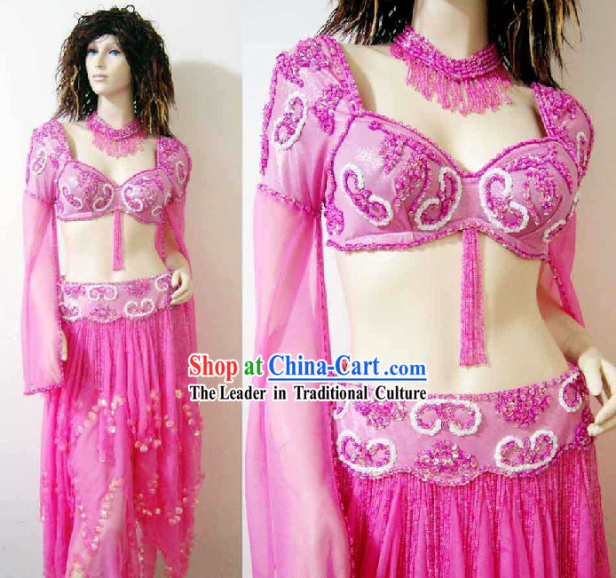 Professional Dancer Belly Dance Costumes Complete Set