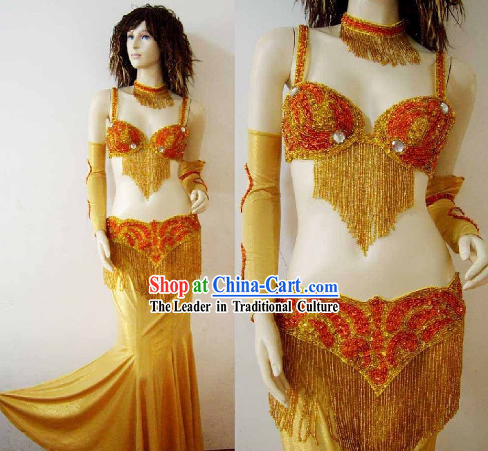 Professional Competition Belly Dance Costumes Complete Set