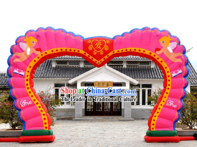 Romantic Wedding Heart Shape Inflatable Arch