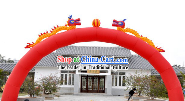 Double Dragons Playing Ball Chinese Wedding Inflatable Arches