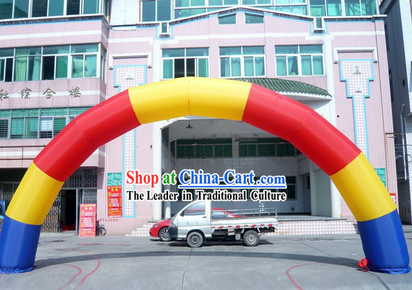 393 Inches Long Rainbow Inflatable Arches